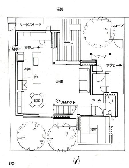 永田昌民さんが設計した「杉並の家」配置平面図