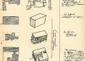 ル・コルビュジェの手描きスケッチ「四つのコンポジション」